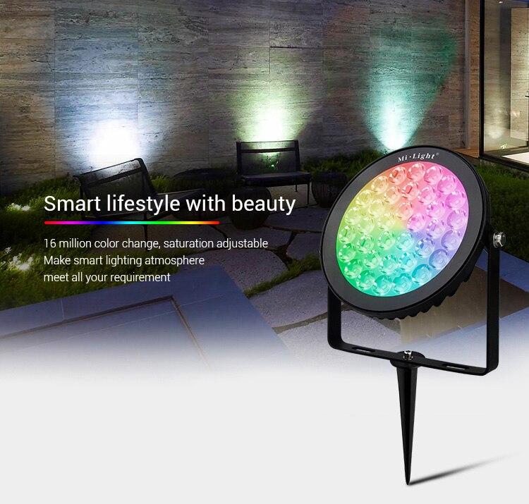 Mi светильник RGB + CCT светодиодный садовый светильник, уличный водонепроницаемый 9 Вт 15 Вт RGB CCT светодиодный садовый светильник, лампы для газо