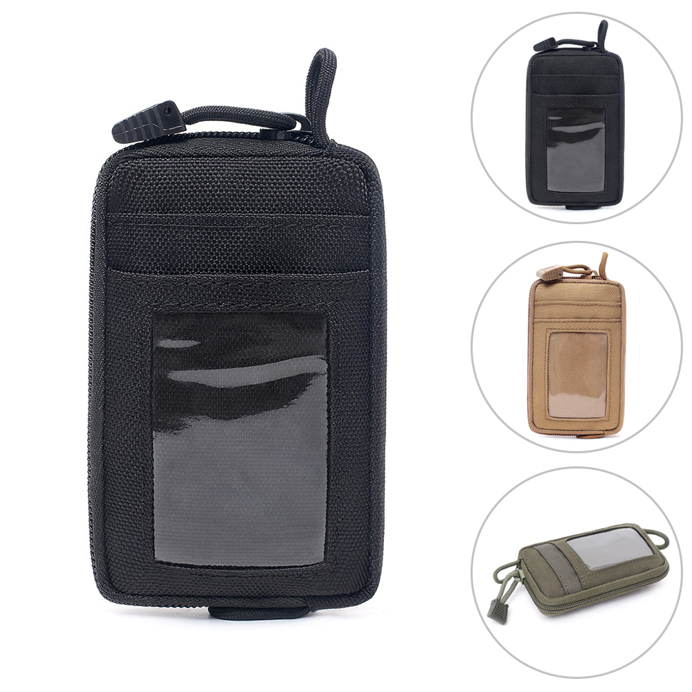 Tactical Multi-Function Card Wallet With D-Shaped Buckle Hunting Tactical Equipment Accessories Small Pocket Bag Waist Bag