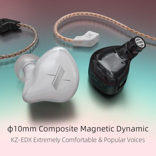 KZ EDX 1DD Dynamic Earphones HIFI Bass Earbuds In Ear Monitor Earphones Sport Noise Cancelling Headset KZ ZST X ED12 ZSX ZSN PRO 4