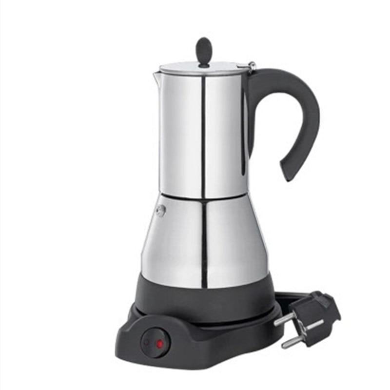 Электрический гейзер Moka кофеварка 304 из нержавеющей стали Mocha moka горшок плита фильтр Перколятор гейзерная кофеварка для плиты|Кофейники|   | АлиЭкспресс