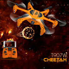 T907W Selfie 6 Axis Headless Mode Mini WIFI FPV ABS RC Quadcopter 4 Channel Led Toys Helicopter Drone HD Camera Altitude Hold
