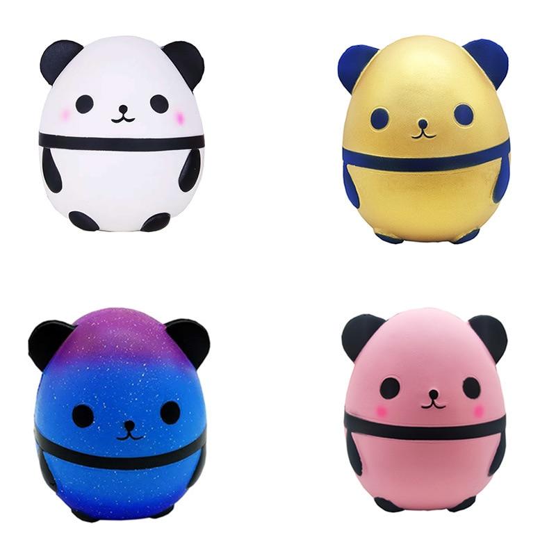New Kawaii Soft Clay Panda Egg Slow Rebound Simulation Soft Doll Doll Bubble Creative Toy Brazilian Smell Decompression Fun Boy