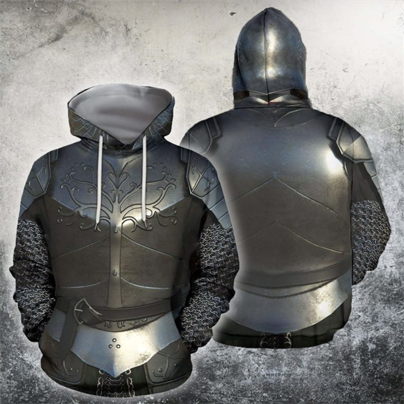 3D All Over Printed Knight Medieval Armor Men Hoodie Harajuku Fashion Hooded Sweatshirt Cosplay Costume Autumn Unisex Hoodies