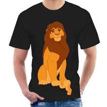 T Shirt Simba Lion King Casual O-Neck Men's Basic Short Sleeve T-Shirt 100% Cotton Tee Shirt Printed men clothes 2020 1294Y