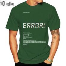 Populaire unisexe vêtements Homme erreur cadeau hommes T-Shirt surdimensionné hommes amples T-Shirt 100% coton T-Shirt hommes t-shirts