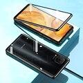 Стеклянный чехол для Huawei P40 Lite  двухсторонний чехол из закаленного стекла для Huawei P40 P 40 Lite  Жесткий Чехол  магнитные чехлы