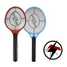 Home Living Electric Rechargeable LED Electric Insect Bug Fly Mosquito Zapper Swatter Killer Racket 3-layer Net Safe #25(China)