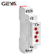 Free Shipping GEYA GRV8-05 Voltage Sensitive  Relay with Phase Sequence Failure Asymmetry Delay Time FunctionAC220V-460V