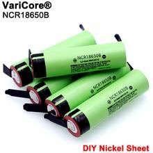 Batterie Rechargeable au Lithium, 2021, 3.7 v, 3400mah, feuille de Nickel, à souder, 18650