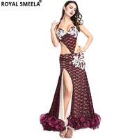Professional Stage Belly danc Costume Bellydancing Bra Long skirt Sexy Belly Dancing dress Clothes Indian dance Arab dance wear