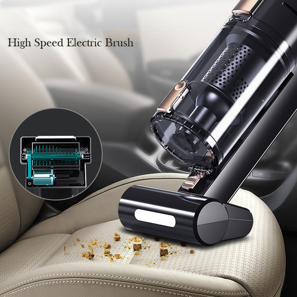 120W 5000PA aspiradora de coche inalámbrico con cable potente Casa de coche de doble propósito de carga Mini de alta potencia de mano aspiradoras ASK610