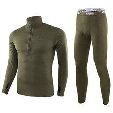НОВЫЕ комплекты термобелья для мужчин, зимнее термобелье с длинным рукавом, Длинная зимняя одежда для мужчин, толстое термобелье XXL