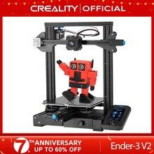 Creality 3d Ender-3 v2 mainboard com silencioso tmc2208 stepper drivers nova ui & 4.3 Polegada cor lcd carborindo impressora de cama vidro