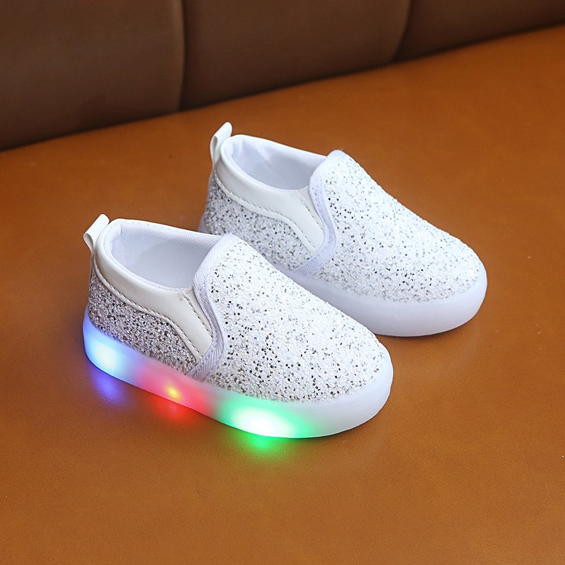 Lighted Toddler Slip-On Sneakers Girl Light Shoe For Sequin 2019 Kids Sneakers Led Autumn Shoes For Boys 1 2 3 4 5 6 Year Old
