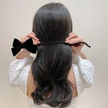 Velvet Double Layer Bowknot Women Hairpin Hairdresser Ponytail Meatball Bow Hair Clip Fashion Headwear Scrunchie Hair Accessory