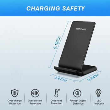 FDGAO 10W QI Wireless Charger Quick Charge Stand Dock Fast Charging For IPhone XS Max XR 8 X 11 Pro Airpods Samsung S10 S9 S8 S7