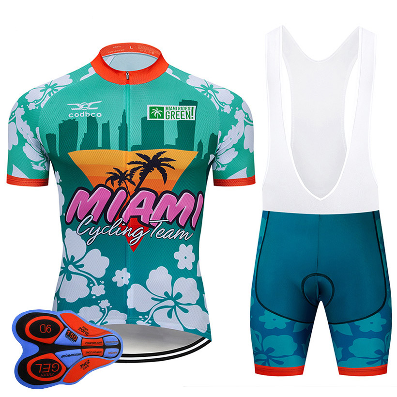2020 The USA Cycling Clothing 9D Set MTB Uniform Bicycle Clothes Ropa Ciclismo Mens Quick Dry Bike Wear Short Maillot Culotte