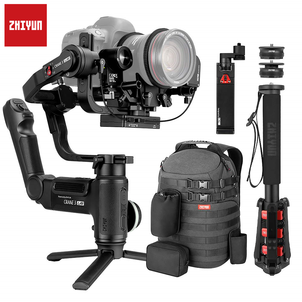 Zhiyun Crane 3 Lab Crane 2 Upgrade Version 3-Axis Gimbal Stabilizer For DSLR Cameras, 1080P Full HD Wireless Image Transmission