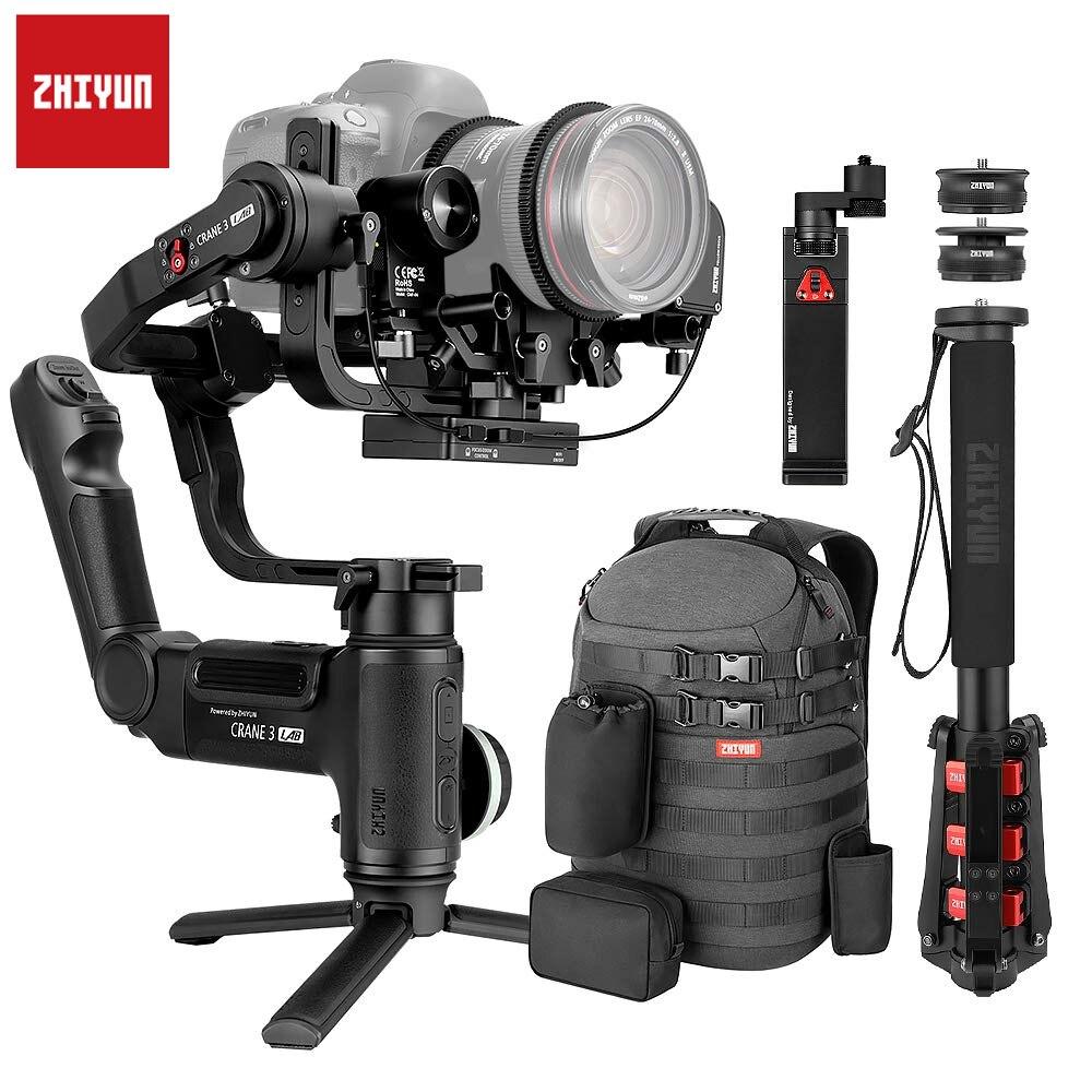 Zhiyun Crane 3 laboratorio Crane 2 Actualización versión 3-eje cardán estabilizador para cámaras DSLR 1080 P Full HD inalámbrico transmisión de la imagen