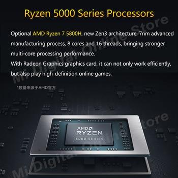 [R7 Stock]Global Version Xiaomi RedmiBook Pro 15 Laptop Ryzen R7-5800H 16GB+512GB SSD 15.6 inch 3.2K Screen Mi Notebook Win 10 3