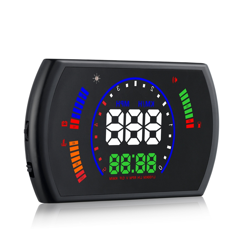 S600 Car Head Up Display 5.8 Inch Digital Speedometer Car HUD OBD2 Windshield Projector Speed Fatigue Driving Reminder