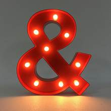 LED Letter Light Vintage Circus Style Alphabet Light Up Sign & LED Night Light(China)