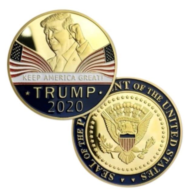 Gold Challenge Coin Commemorative America 45th President - 1pc  3