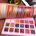 Beauty glazed paleta de sombras de 18 cores, maquiagem profissional, brilhante e impermeável