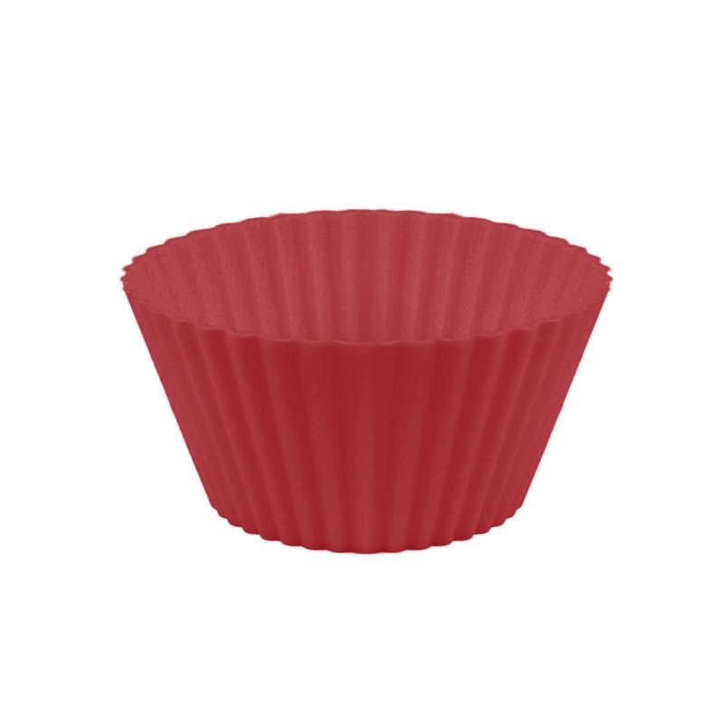 ซิลิโคนแม่พิมพ์รอบเค้กถ้วย Muffin PARTY ถาด Bakeware ยืน Cupcake กรณี Liners งานแต่งงานตกแต่ง Bake TOOL