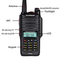"dual band vhf uhf IP67 Waterproof Baofeng UV-9R פלוס מכשיר הקשר Dual Band שני הדרך רדיו 10W UHF VHF UV 9R Portable מקמ""ש HF שידורי רדיו חובבים Ham (3)"