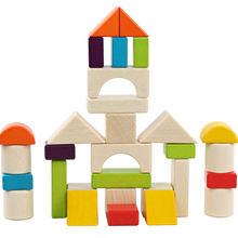 Детский Деревянный конструктор в коробке 30 шт
