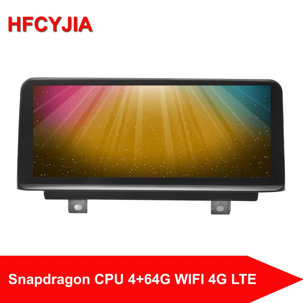HFCYJIA 8 Core Android 10.0 System Car GPS Navi For BMW F20 F21 F22 F23 13-17 IPS Touch Screen Receiver 4+64GB RAM WIFI 4G BT image