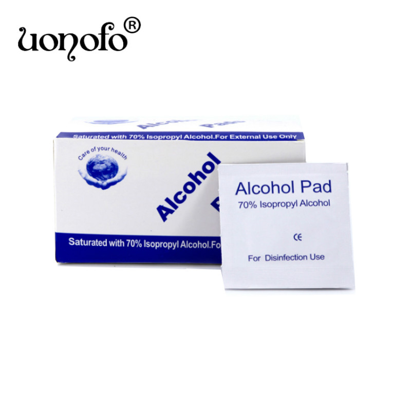 100Pcs Portable Alcohol Disinfection Tablet Alcohol Pad Swabs Wipes Skin Antibacterial Tool Cleanser Home Makeup New Cosmetics