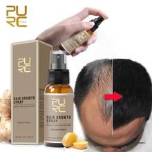 PURC produits de croissance des cheveux à croissance rapide huile de cheveux soins de perte de cheveux Spray de beauté traitement du cuir chevelu pour hommes femmes 30ml