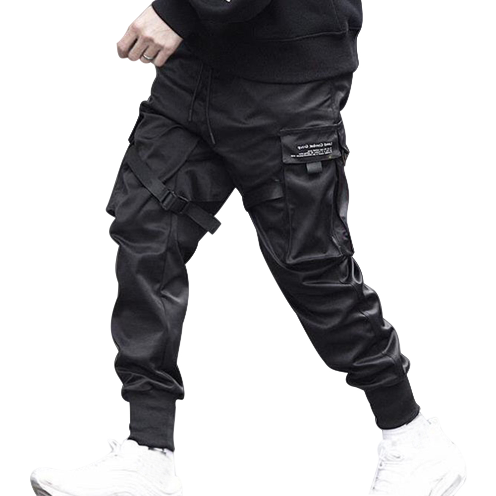 Men Casual Harem Joggers Sweatpant Hip Hop Trousers Multi Pocket Cargo Pants ZJ55