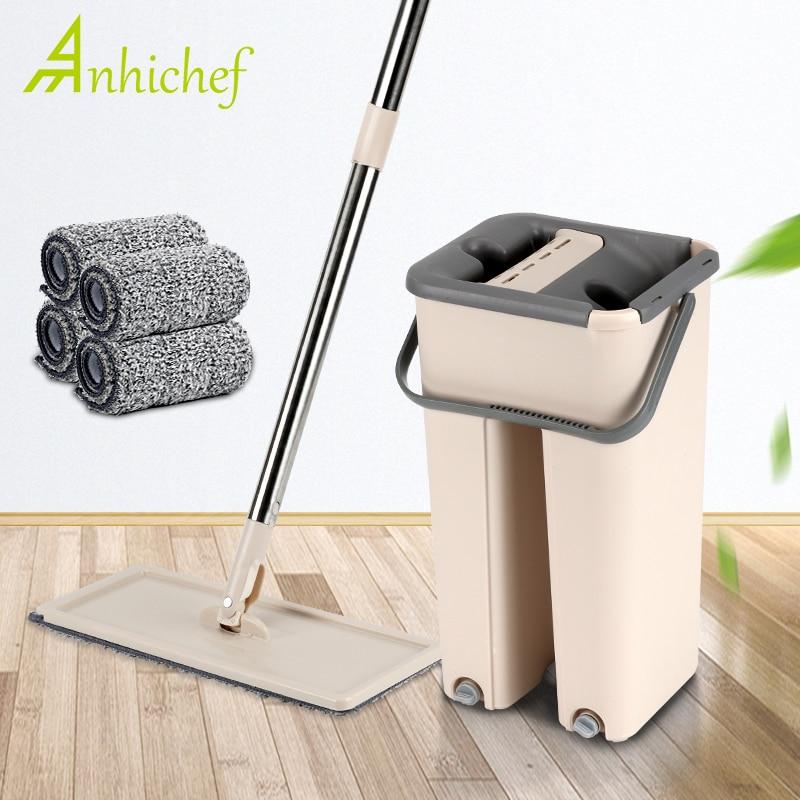 Magia limpeza automática mop livre mão rotação lavagem ultrafina fibra pano de limpeza casa cozinha piso madeira preguiçoso companheiro mop