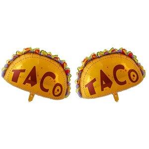 Image 4 - Meksykańskie balony na imprezę dekoracje świąteczne dostawy Party TACO około miłość Party Fiesta kaktus hel balony foliowe TacoTwosday
