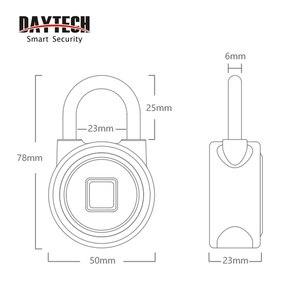 Image 5 - DAYTECH Bluetooth Смарт замок с отпечатком пальца, Электрический шкафчик для дверей, аккумуляторная батарея, Противоугонная защита для дома (L01)
