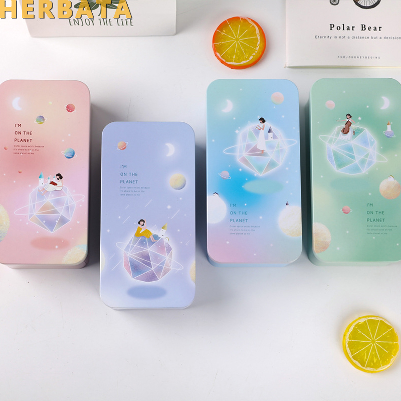 Double Deck Boys Girls Primary School Supplier Students Creative Stationery Tin Pencil Box Storage Container Estuches Papeleria