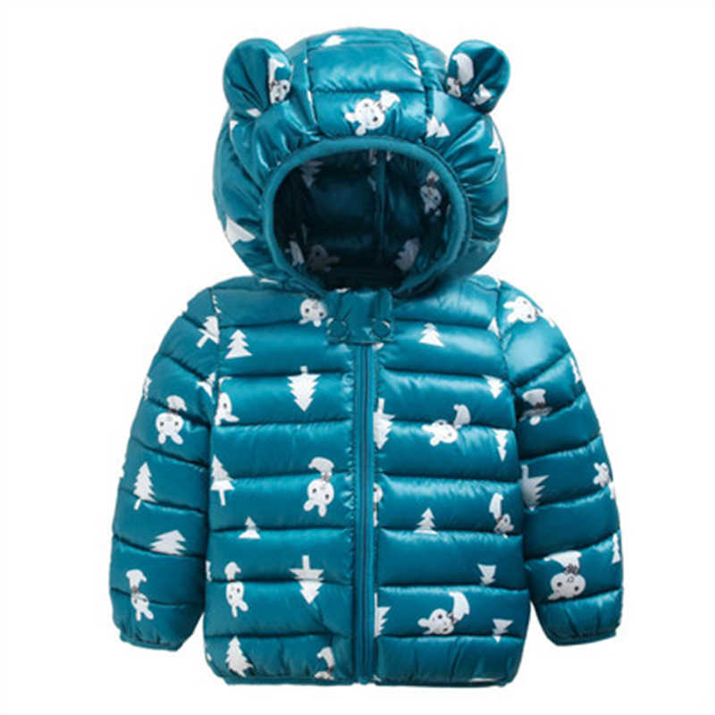 Sundae Angel Winter Jacket For Boy Hooded Thicken Long Sleeve Girl Jackets Girls Outerwear Coats Children Down Parkas Clo