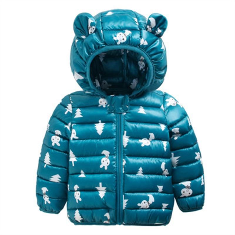 Sundae Angel Winter Jacket For Boy Hooded Thicken Long Sleeve Girl Jackets Girls Outerwear Coats Children Down Parkas Clo
