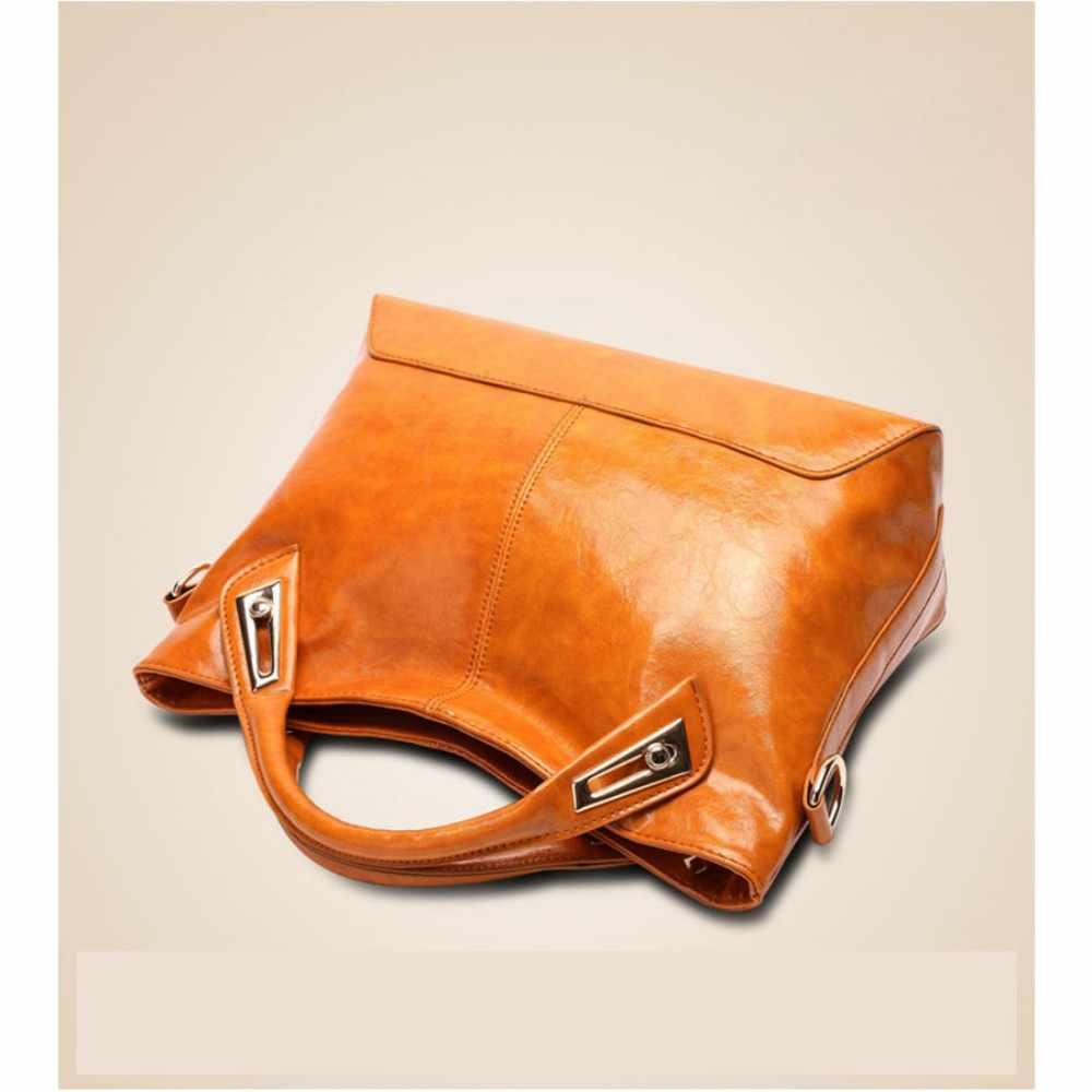 100% Kulit Asli Wanita Handbags 2019 New Cross-Section Portable Bahu Tas Motor Fashion Vintage Messenger