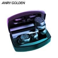 ANRY TWS 8 Plus sans fil Bluetooth écouteurs V5.0 2200mAh Charge Sport tactile contrôle sans fil casque IPX5 avec crochet d'oreille