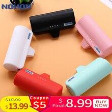 NOHON mini type USB C power Bank, 3000 мА/ч, быстрая зарядка, карманный беспроводной внешний аккумулятор для Xiaomi huawei USB-C, портативное зарядное устройство
