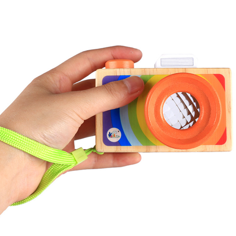 New Camera Kaleidoscope Toys For Children Classic Cartoon Camera  Magic Education Baby Kids Montessori Learning Toy Gift
