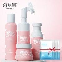 Fresh Milk Skin Care Set Face Toner Cream Lotion Facial Cleanser BB Creams CC Mask Moisturiz Nourish Anti Aging Cosmetics Lot