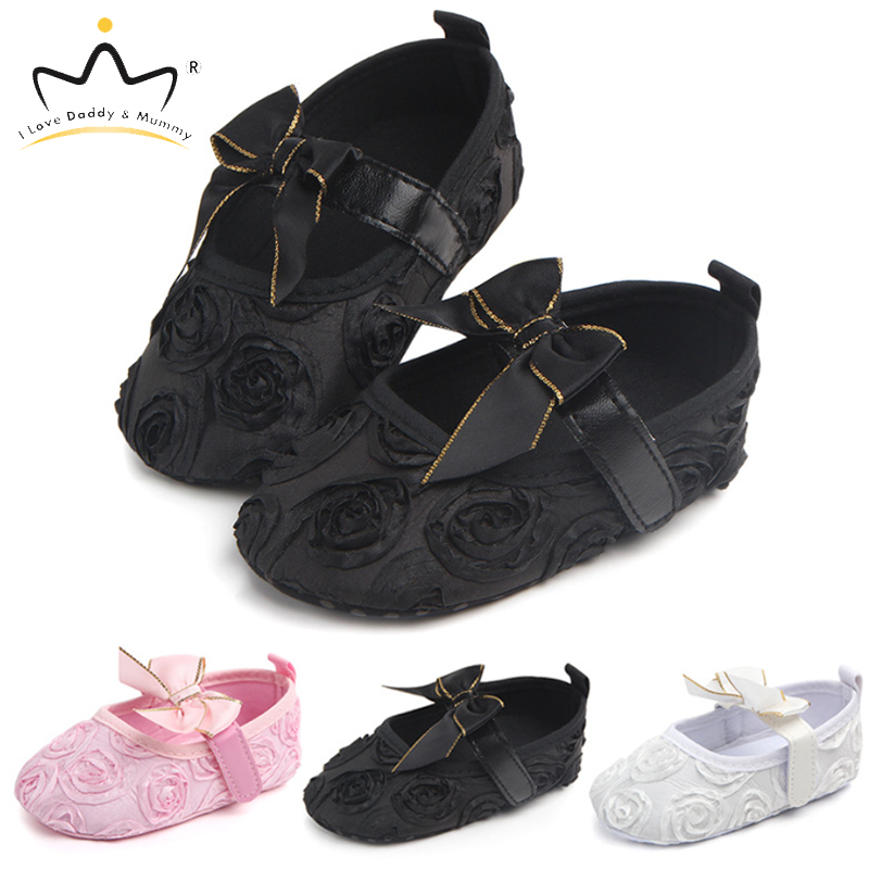 Summer New Baby Shoes Cute Rose Flower Newborn Toddler Baby Girl Shoes First Walkers Lace Flower Bows Non-Slip Girls Shoes