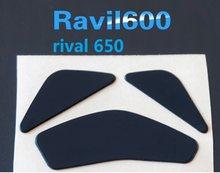 SteelSeries Rakip 600 rival650 fare ayak paten USB kablosu ve bant yan pedleri