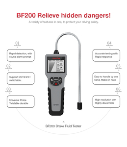 Image 3 - ブレーキ流体テスターペン自動ブレーキオイル液体テスターBF100/BF200/2in1TPMS検出器テスターOBD2診断ためDOT3/DOT4/DOT5.1