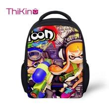 Thikin Preschool School Backpack for Kids Cute Splatoon Pupils bags Supplies Boys Bookbags Students Daybag
